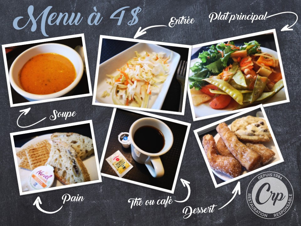 Chic Resto Pop - Menu a 4$