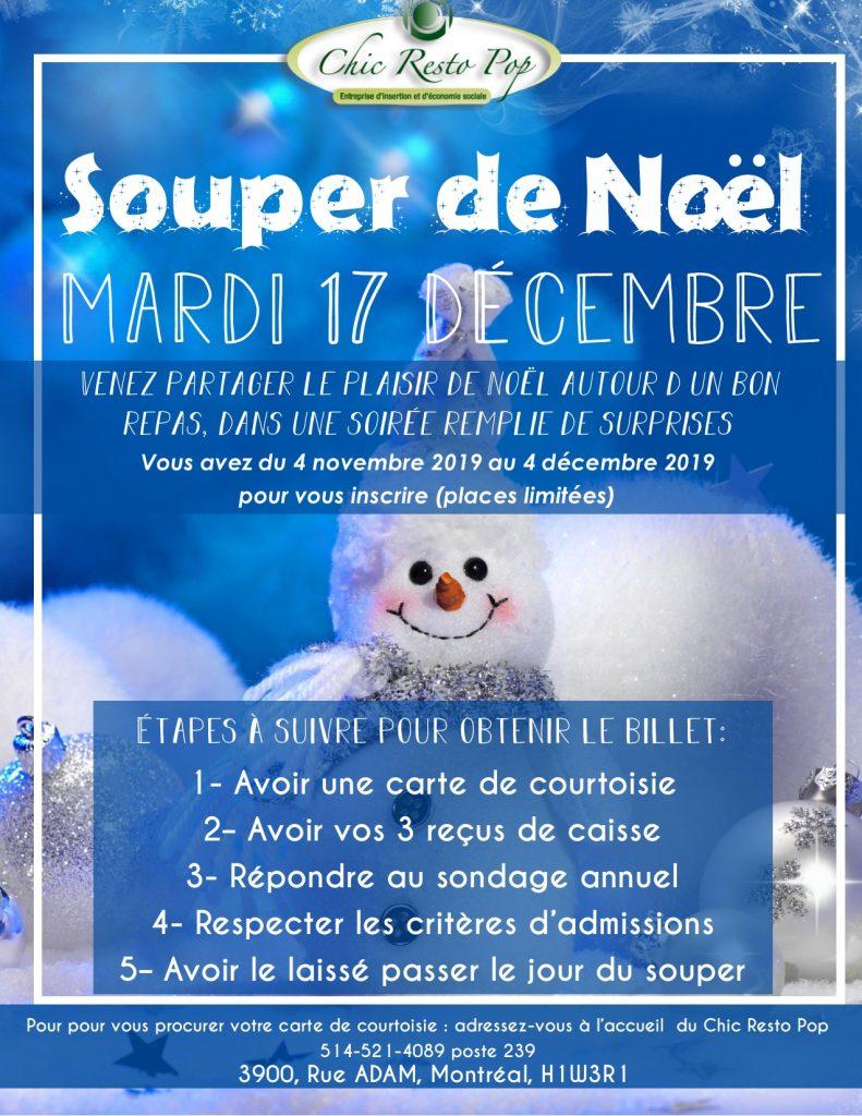 Souper De Noël Du Chic Resto Pop